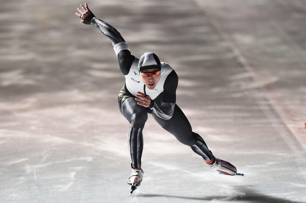 Japan's Tatsuya Shinhama currently leads the World Cup rankings in the men's 500m event ©ISU