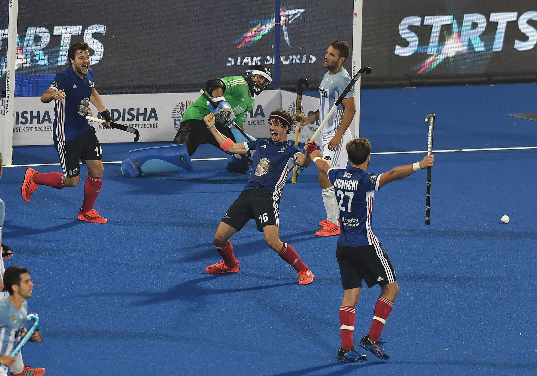France defeated Olympic champions Argentina 5-3 to qualify from their group at the FIH Men's World Cup in India ©Getty Images