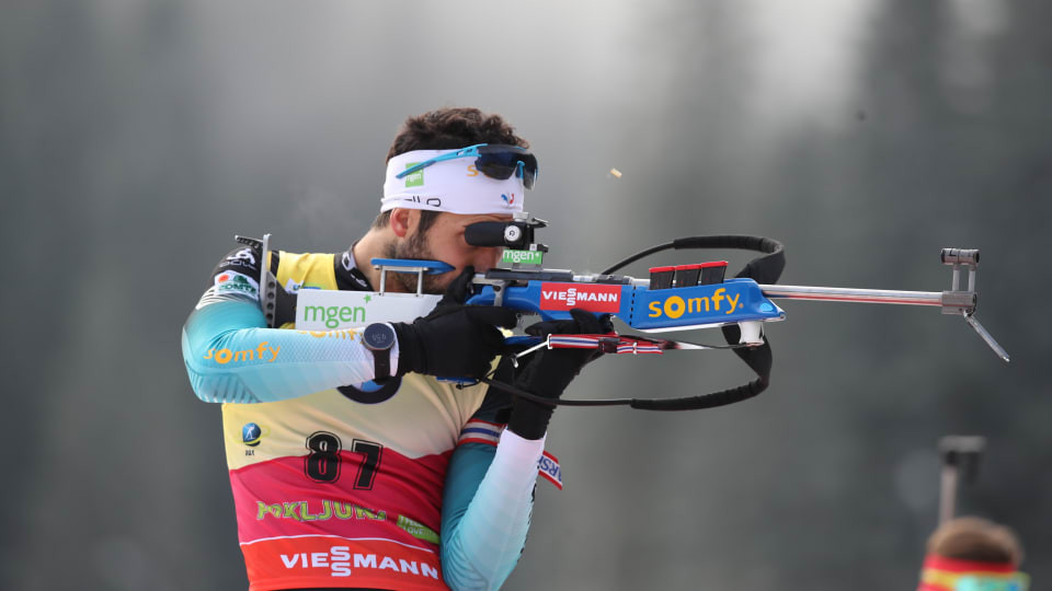 France's Martin Fourcade successfully defended his 20km individual title at the Biathlon World Cup in Slovenia ©IBU