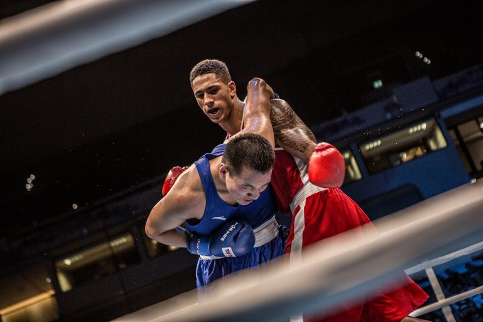 French super heavyweight Tony Yoka overcame China's Zhibao Wang in an exhilarating contest ©AIBA/Facebook