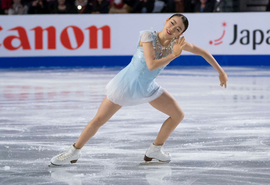 Rika Kihira of Japan finished above Olympic champion Alina Zagitova on the first day of the ISU Grand Prix of Figure Skating final ©International Skating Union