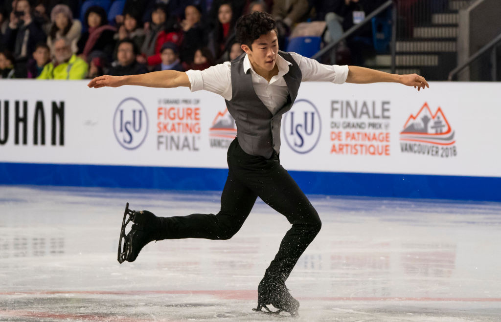 Nathan Chen of the United States is currently leading the men's event at the ISU Grand Prix of Figure Skating in Vancouver ©International Skating Union