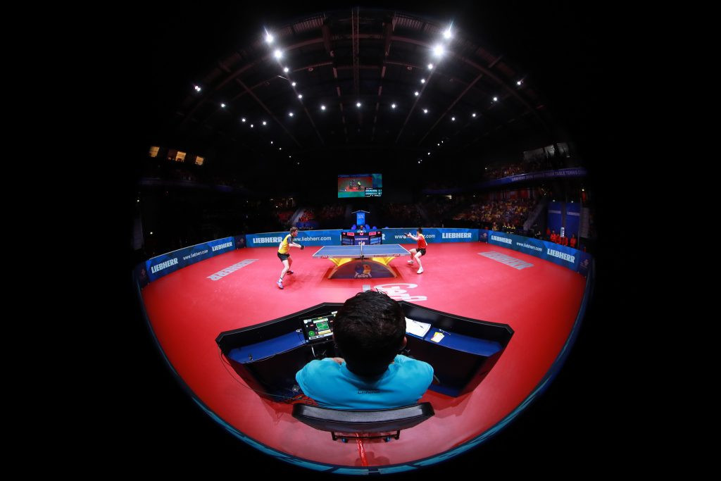 Liebherr is a long-time partner of the ITTF ©ITTF