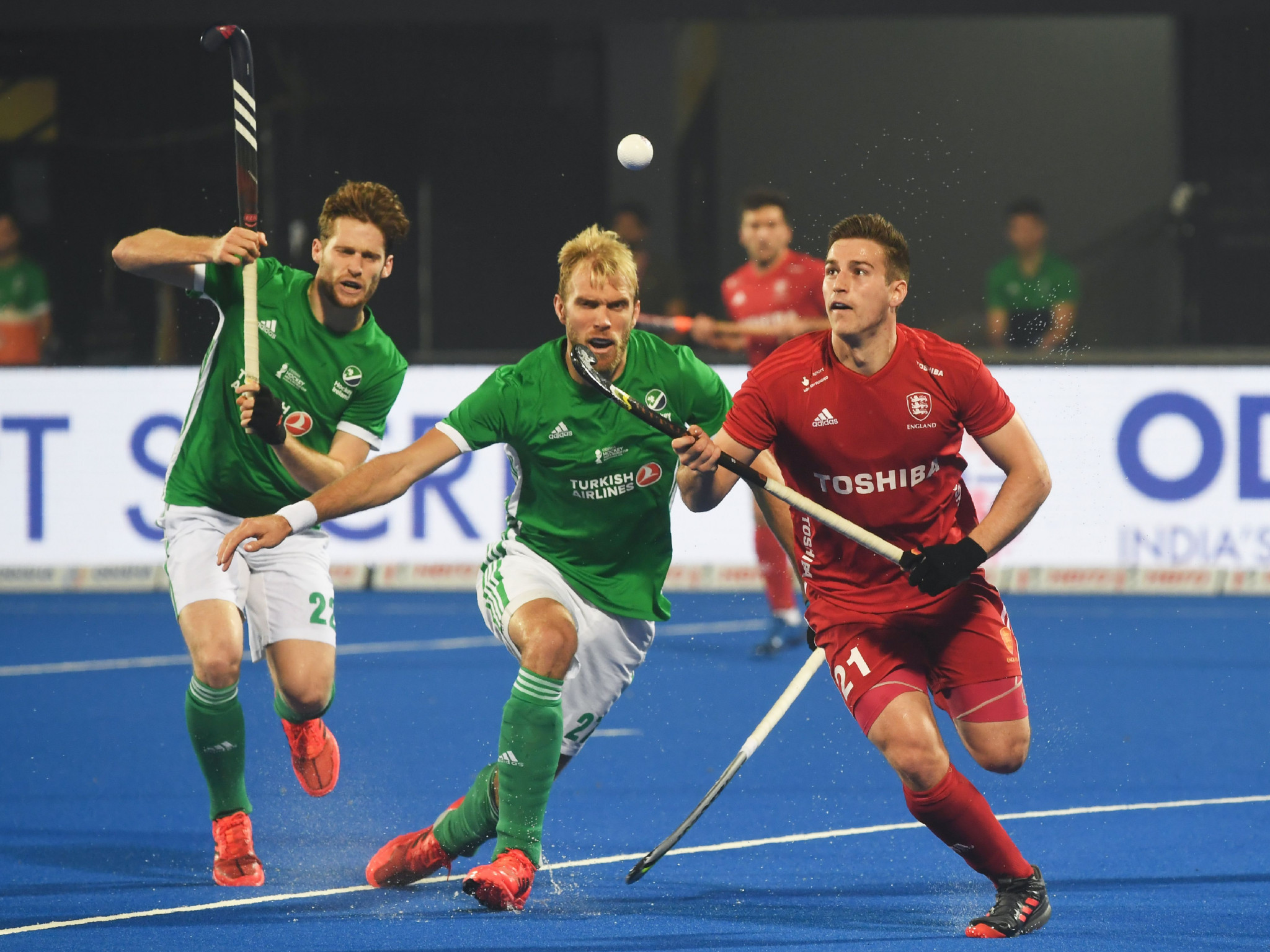 England progress at expense of Ireland at FIH Men's Hockey World Cup