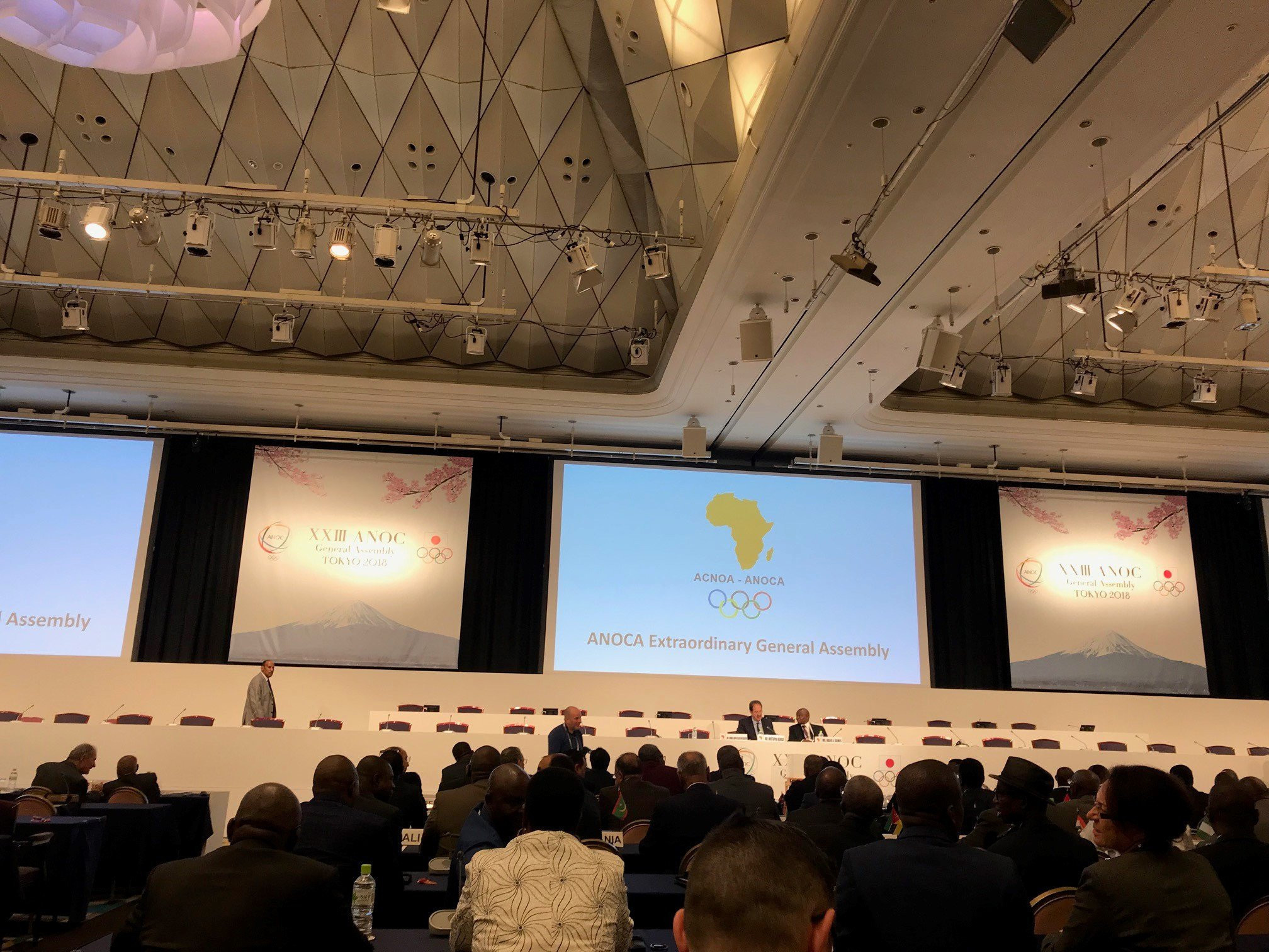 Mustapha Berraf was elected ANOCA President during the continental governing body's Extraordinary General Assembly in Tokyo last week ©ITG