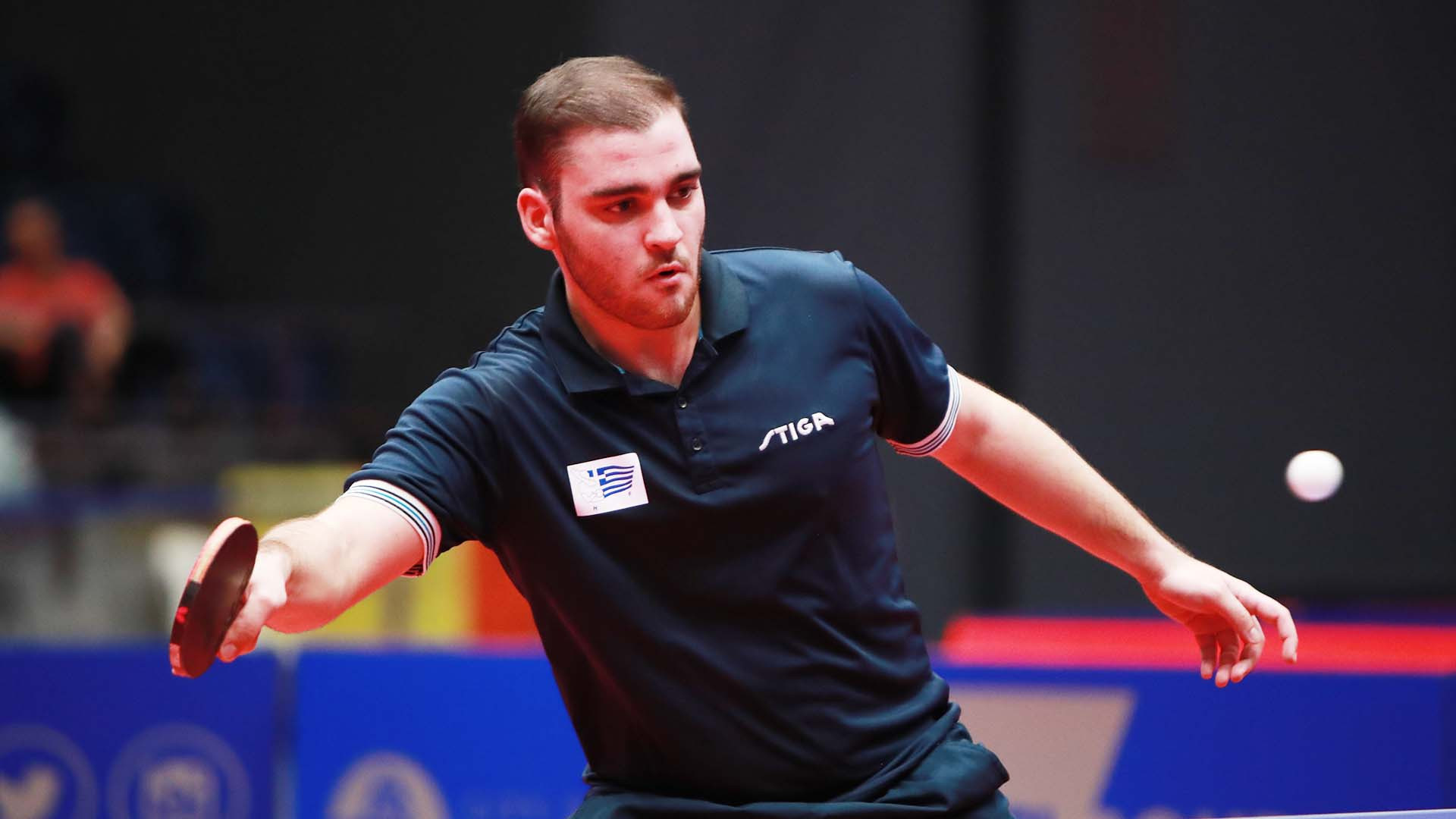 Greece's fifth-seeded Ioannis Sgouropoulos made a winning start on the second day of individual competition at the ITTF World Junior Champonships in Bendigo ©ITTF