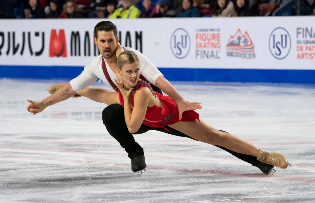 Madison Hubbell and Zachary Donohue of the United States are currently first in the dance event at the ISU Grand Prix of Figure Skating Final in Vancouver with a season best score of 80.53 points ©ISU