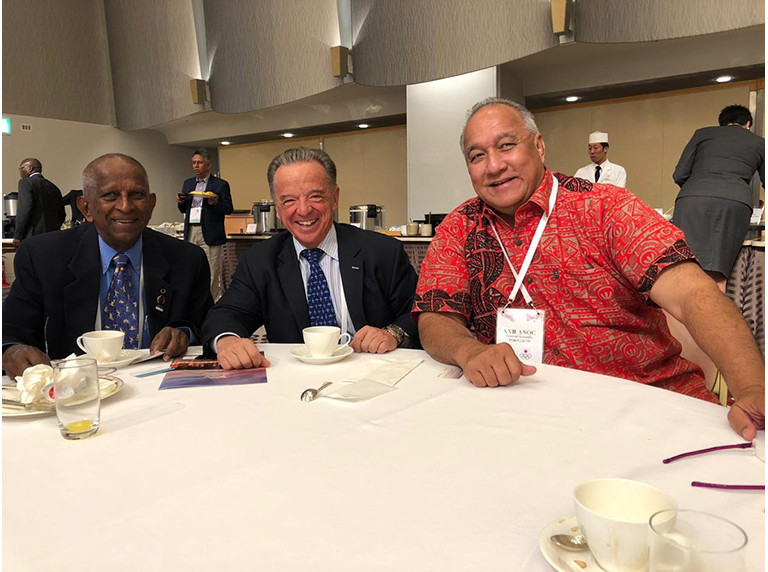 IFBB President holds talks on growing sports in Oceania