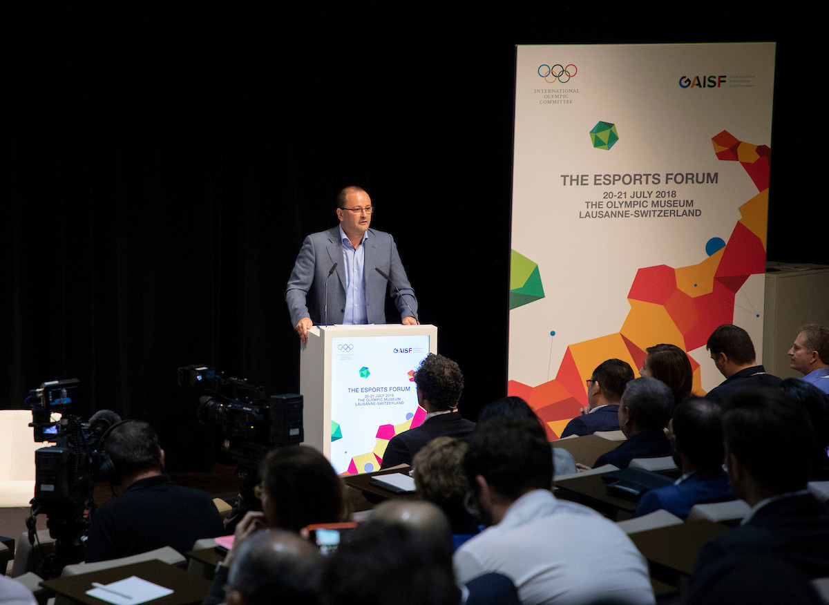 Patrick Baumann had seemed keener on the prospect of esports ©IOC