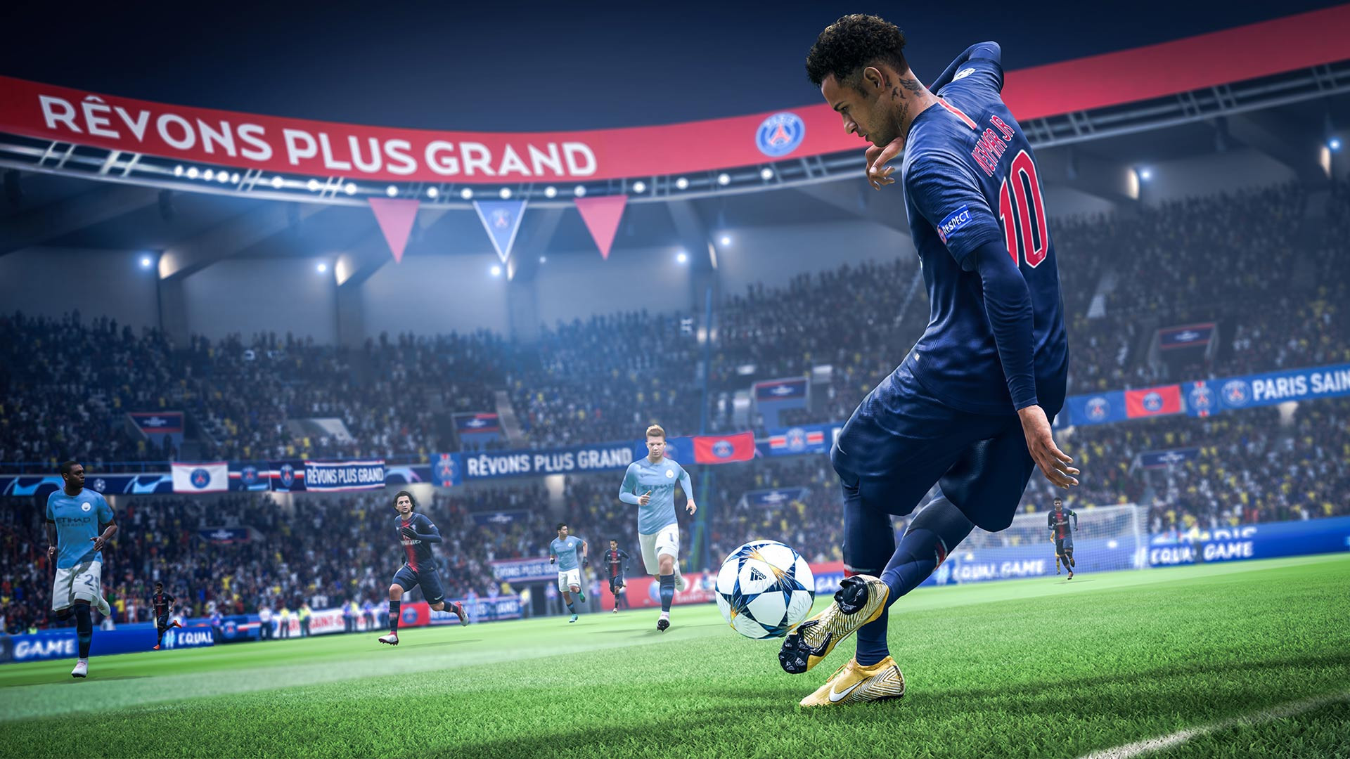 The Olympic Summit urged International Federations, such as FIFA, to make sure they retained control of electronic versions of their sport, like FIFA 19, one of the world's most popular egames ©EA