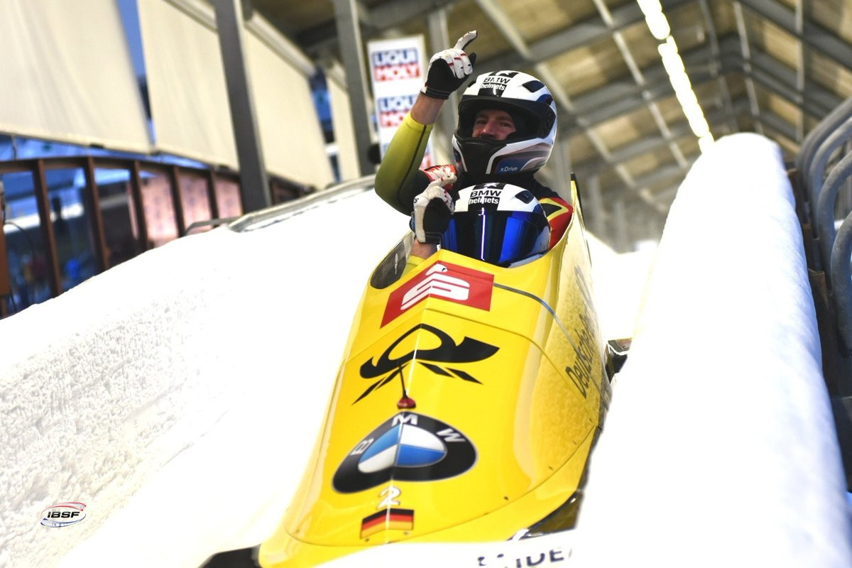 Olympic champion Friedrich takes second successive win in two-man bobsleigh event at IBSF World Cup
