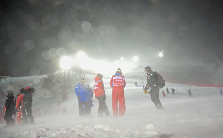 The men's slalom in Val d'Isere was cancelled due to poor weather ©FIS Alpine/Twitter