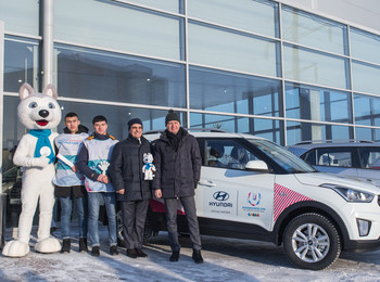 The director of the 2019 Winter Universiade, Maxim Urazov, received 300 cars from Hyundai to be used as transportation for next year's event ©Winter Universiade