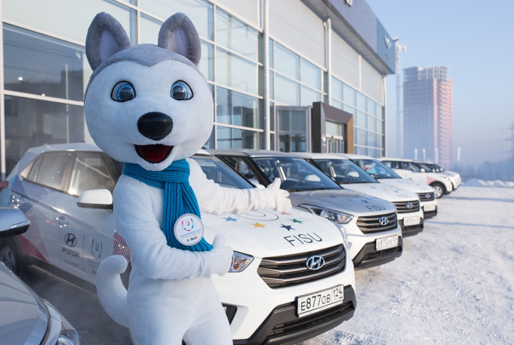 Hyundai has provided 300 cars and buses for the 2019 Winter Universiade as the official automotive partner of the event ©Winter Universiade