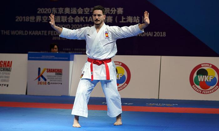 Darmian Quintero won gold in the men's kata event today ©WKF