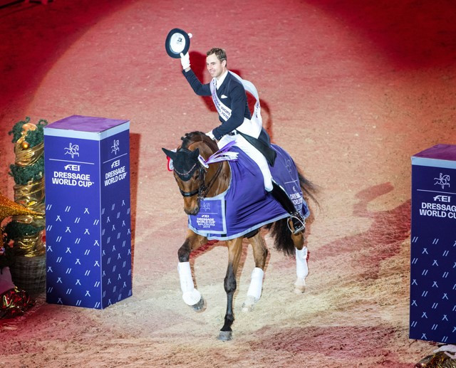 Germany's Werndl wins fifth leg of Western European League to move closer to FEI Dressage World Cup Final place