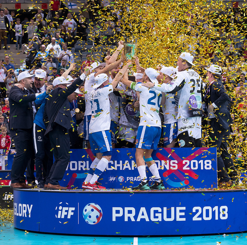 Finland defend Men's Floorball World Championships title in front of record crowd in Prague