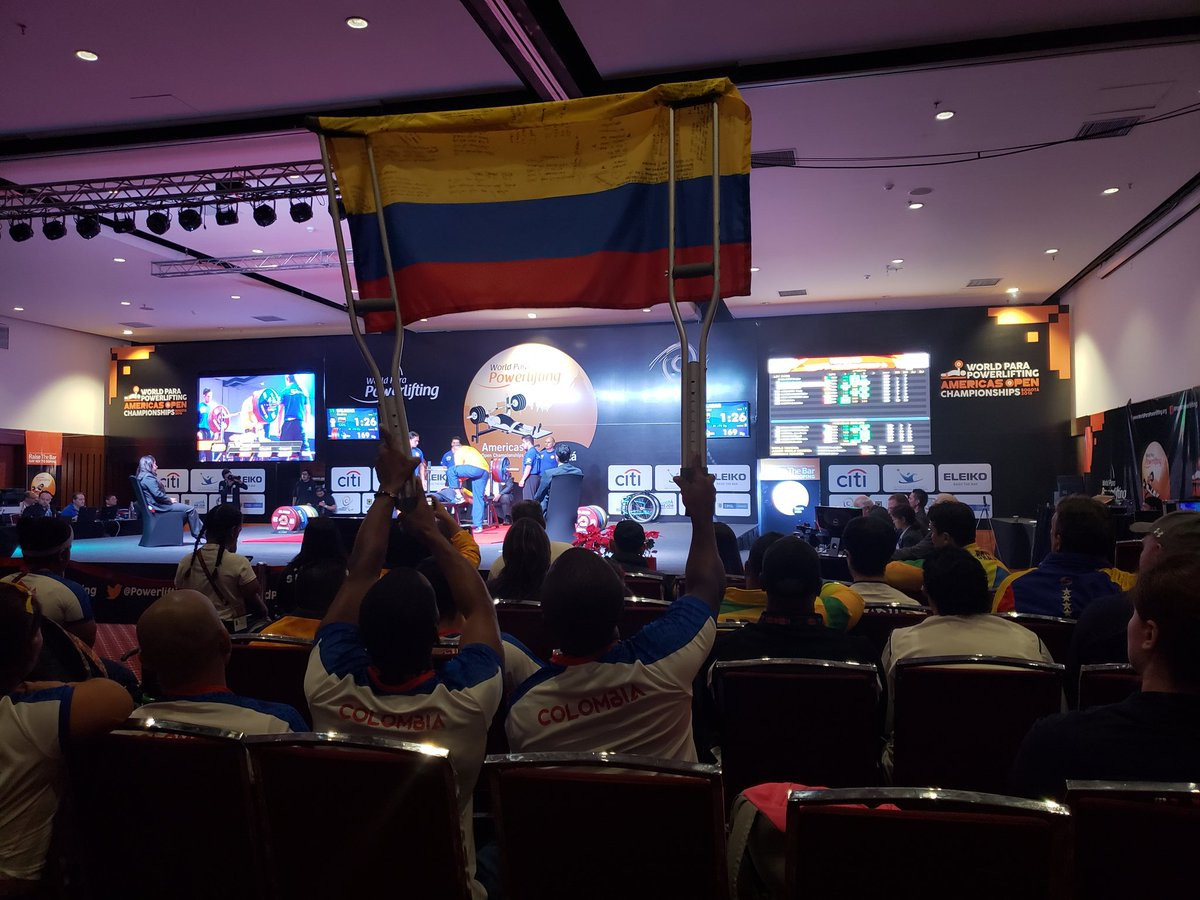 Hosts Colombia ended strongly with two golds today ©World Para Powerlifting/Twitter