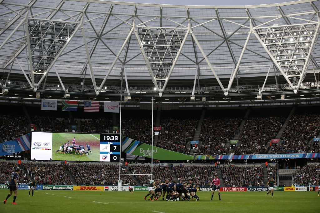 Some staff at the Olympic Stadium, currently being used by the Rugby World Cup, will be financed by the LLDC rather than West Ham ©Getty Images