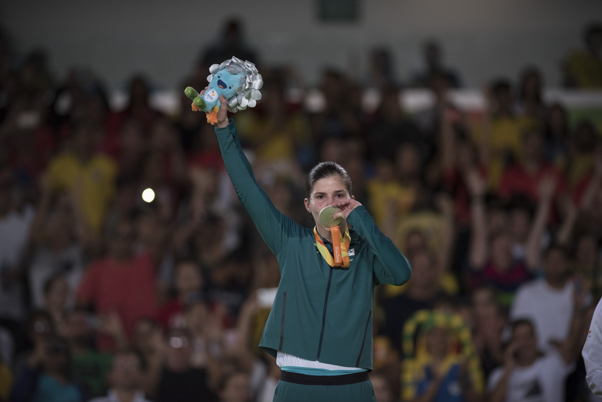Judo world champion Alana Maldonado of Brazil has been nominated for November's Americas Paralympic Committee Athlete of the Month award ©Getty Images