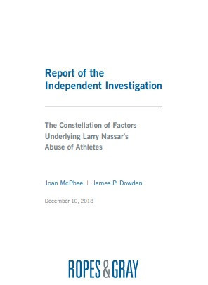 The damning independent investigation report was released today ©Ropes and Gray