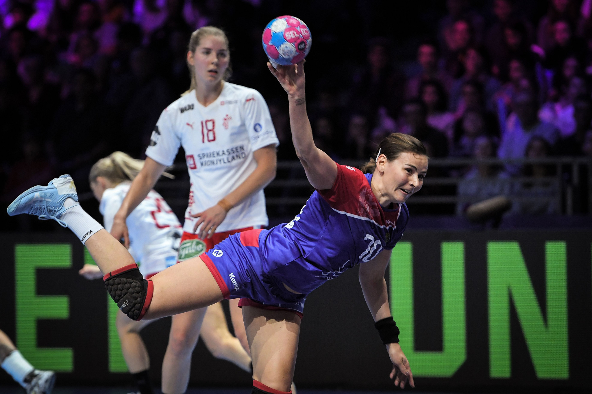 Russia defeated Denmark to become the first team to qualify for the semi-finals of the European Women's Handball Championships ©Getty Images