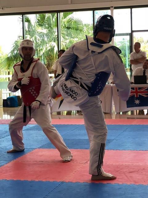 Rob Brown, left, won the competition in Gold Coast ©Australian Taekwondo