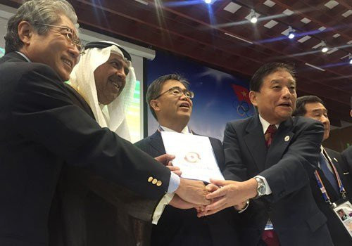 Nagoya and Aichi were awarded the 2026 Asian Games at the OCA's General Assembly in 2016 ©OCA