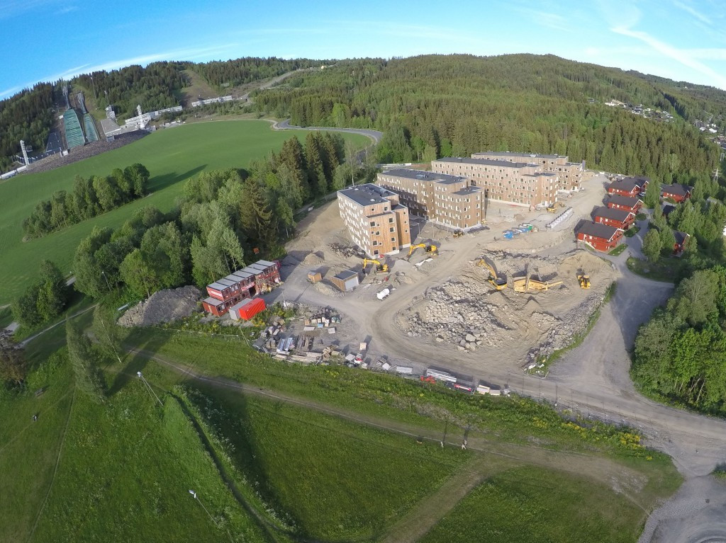 Building work for the Youth Olympic Village taking place earlier this summer ©Lillehammer 2016