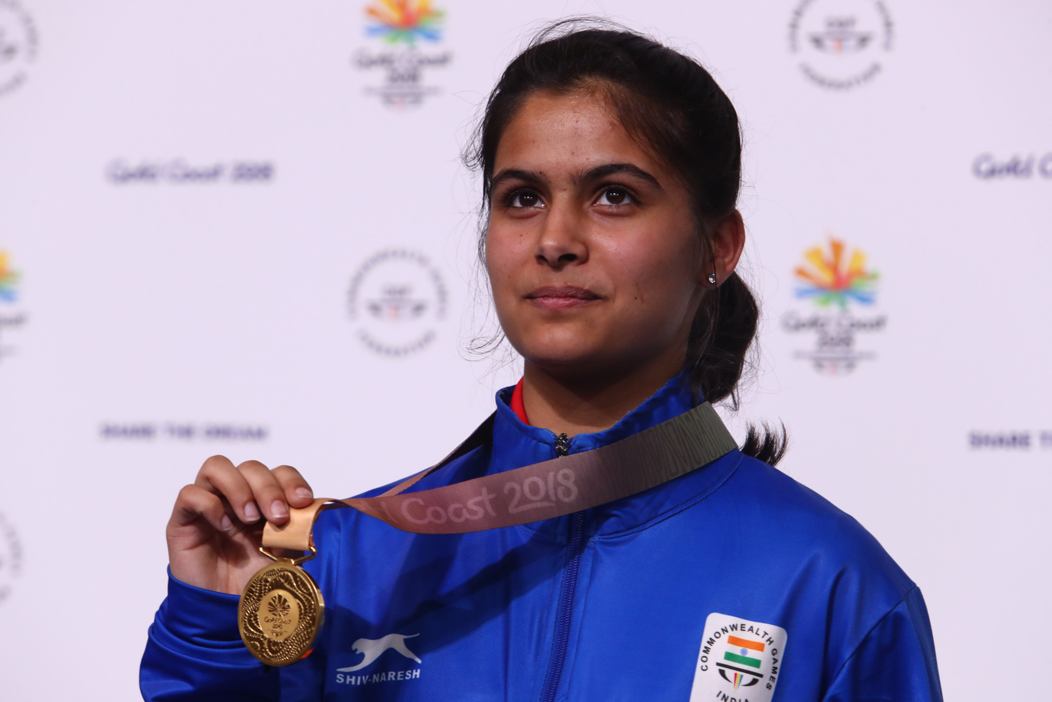 Manu Bhaker was one of the young Indian athletes to attend ©Getty Images
