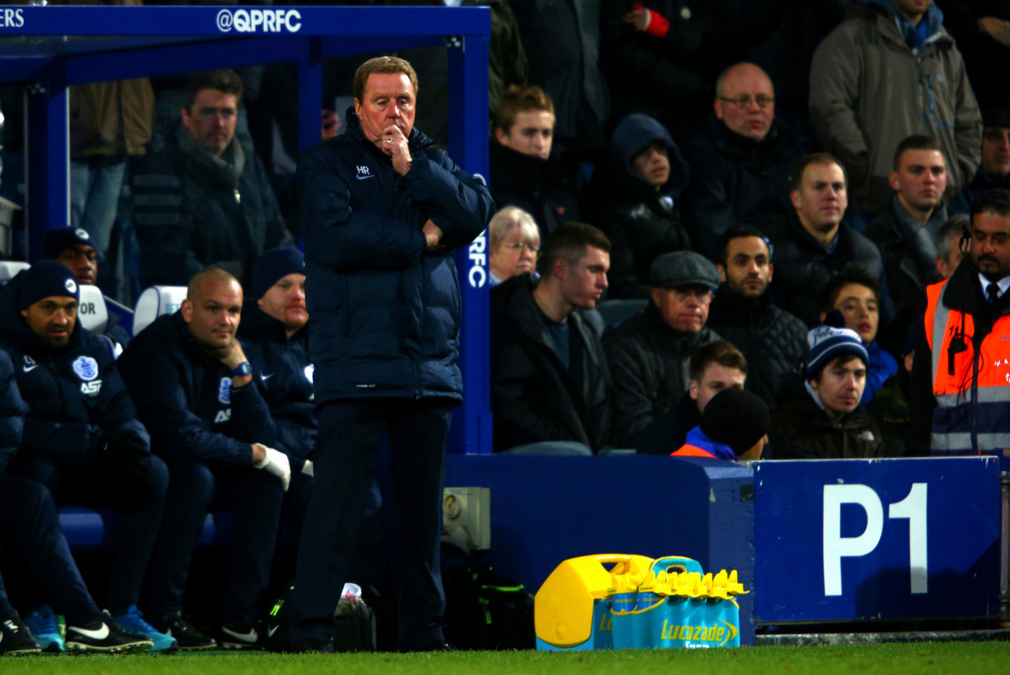 Harry Redknapp is more accustomed to the touchline of a football pitch ©Getty Images