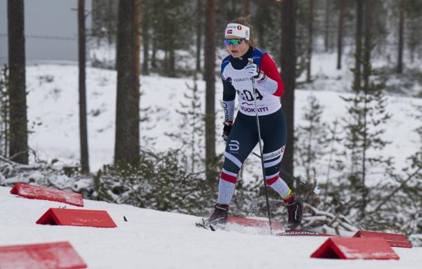 Seventeen-year-old Vilde Nilsen earned her first World Para Nordic Skiiing World Cup gold for Norway in Vuokiatti, Finland today ©World Parasport