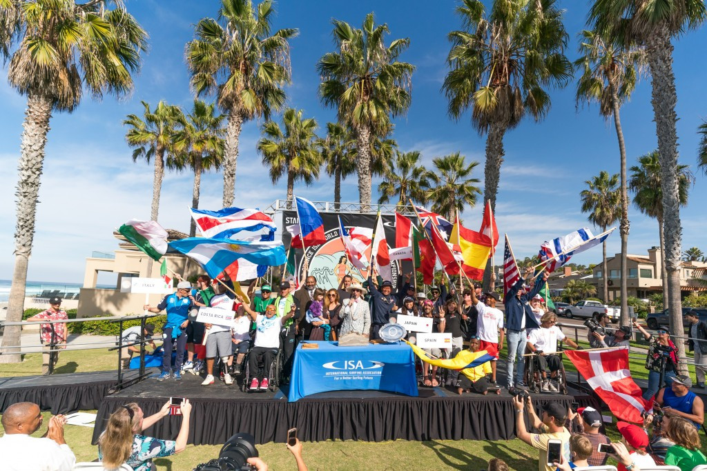 ISA President Aguerre opens record-breaking World Adaptive Surfing Championships