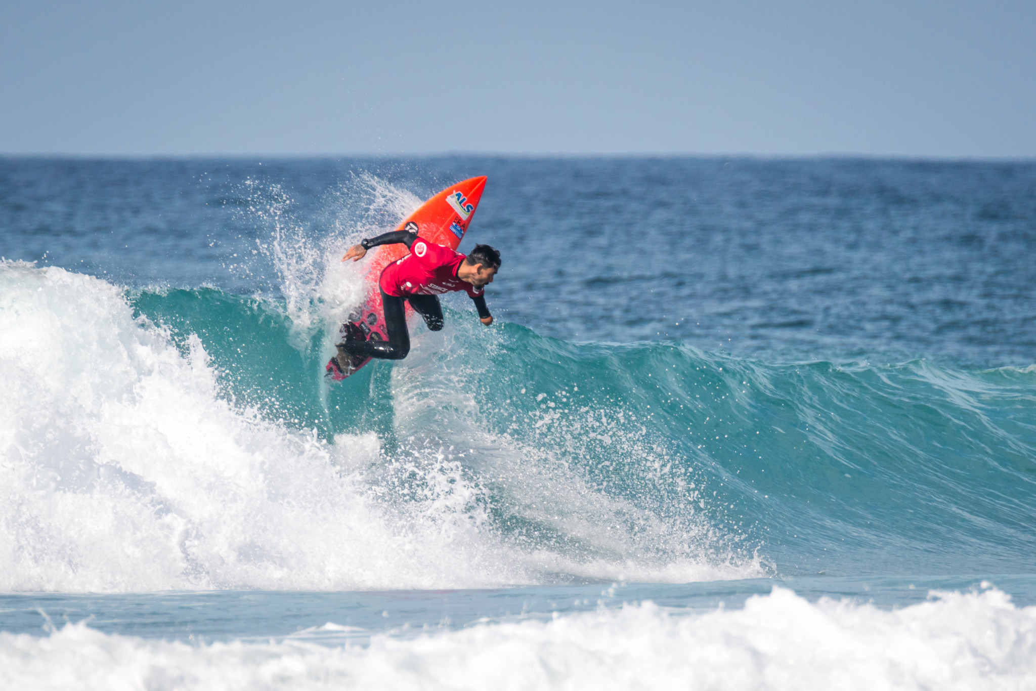 Brazil's Jonathan Borba was among the star performers in the opening day's heats ©ISA/Sean Evans
