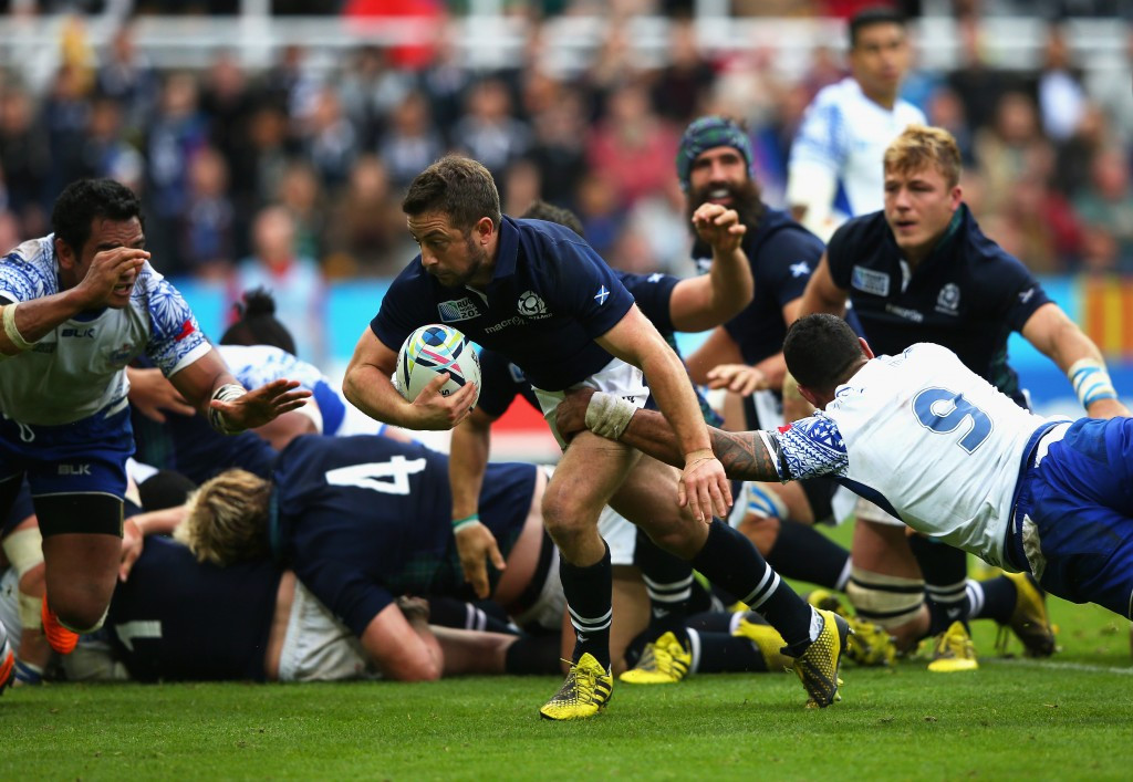 Scotland edge Samoa in thrilling contest to book Rugby World Cup quarter-final with Australia