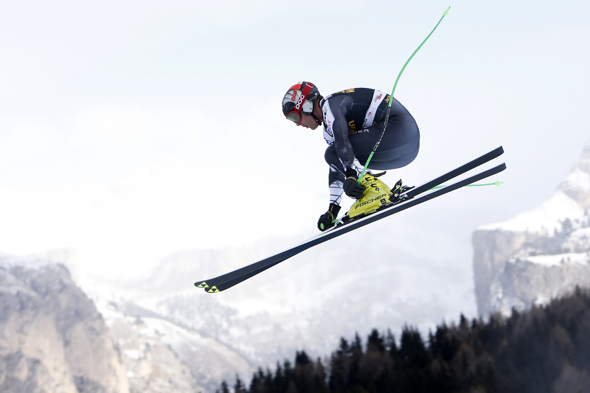 Steven Nyman of the United States - whose three World Cup career wins have come in the downhill at the Val Gardena venue - was second in today's training run ©Getty Images