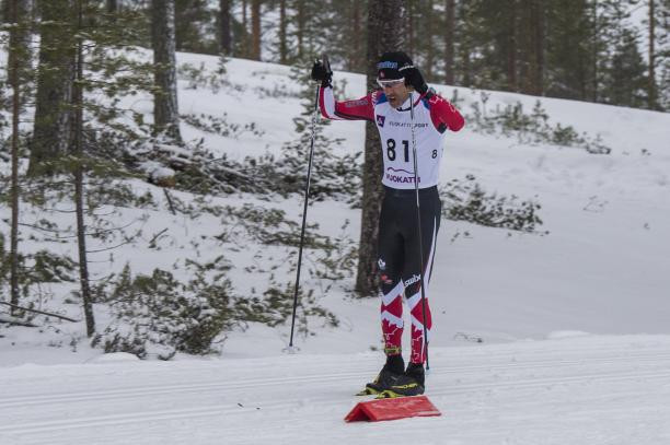 Canada's Brian McKeever won the vision impaired cross-country short race on the second day of competition at the World Para Nordic Skiing World Cup in Vuokatti ©World Para Nordic Ski