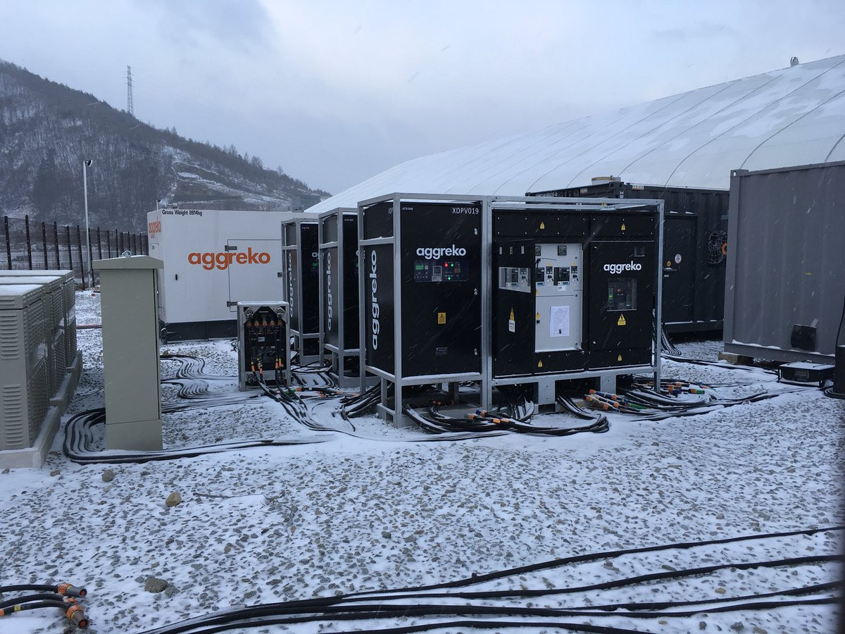 Aggreko provided power at this year's Winter Olympic Games in Pyeongchang ©Aggreko