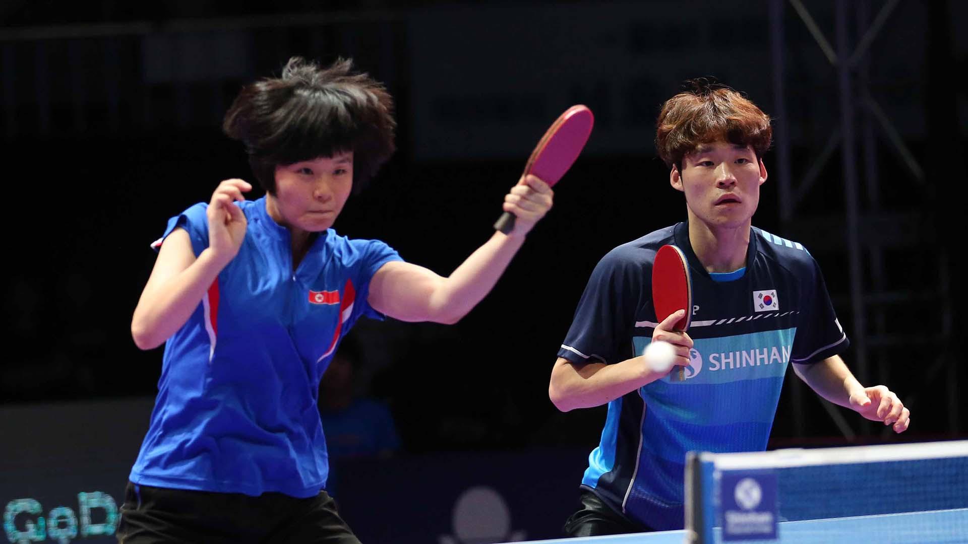 Unified Korean pairing reach mixed doubles final at ITTF World Tour Grand Finals