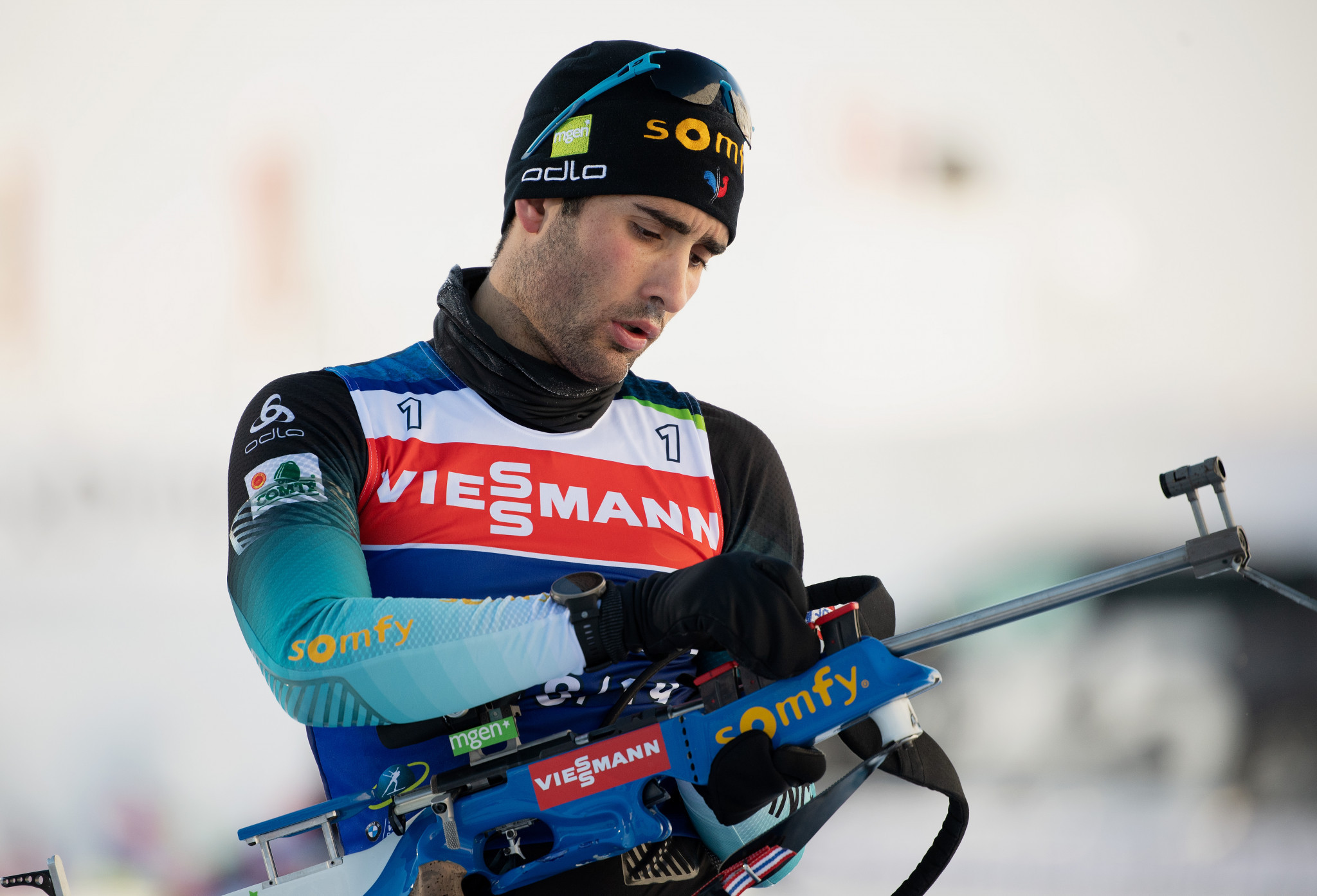 Martin Fourcade shot clean at the range but had to make do with second spot ©Getty Images