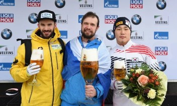 Russia's Sochi 2014 skeleton champion Tretiakov wins first IBSF World Cup gold for two years