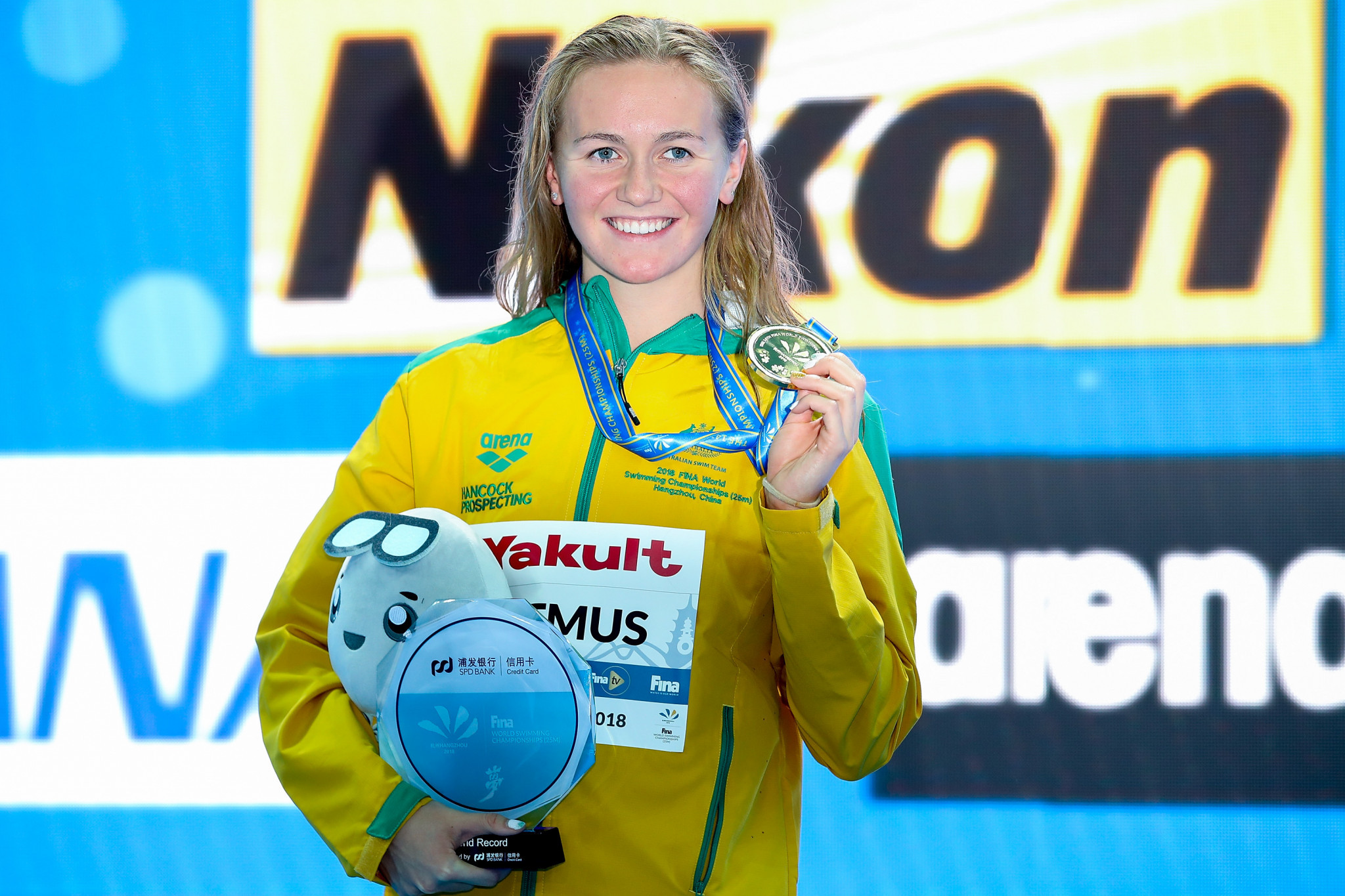 Ariarne Titmus won the women's 200m freestyle in a world record time ©Getty Images