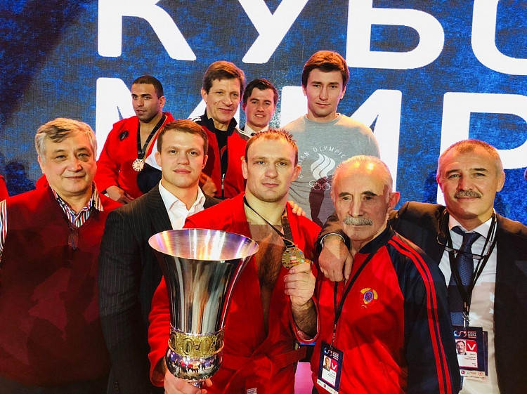 Andrei Kazusionok of Belarus clinched the Sambo Absolute Cup at the Adler Arena in Sochi ©FIAS