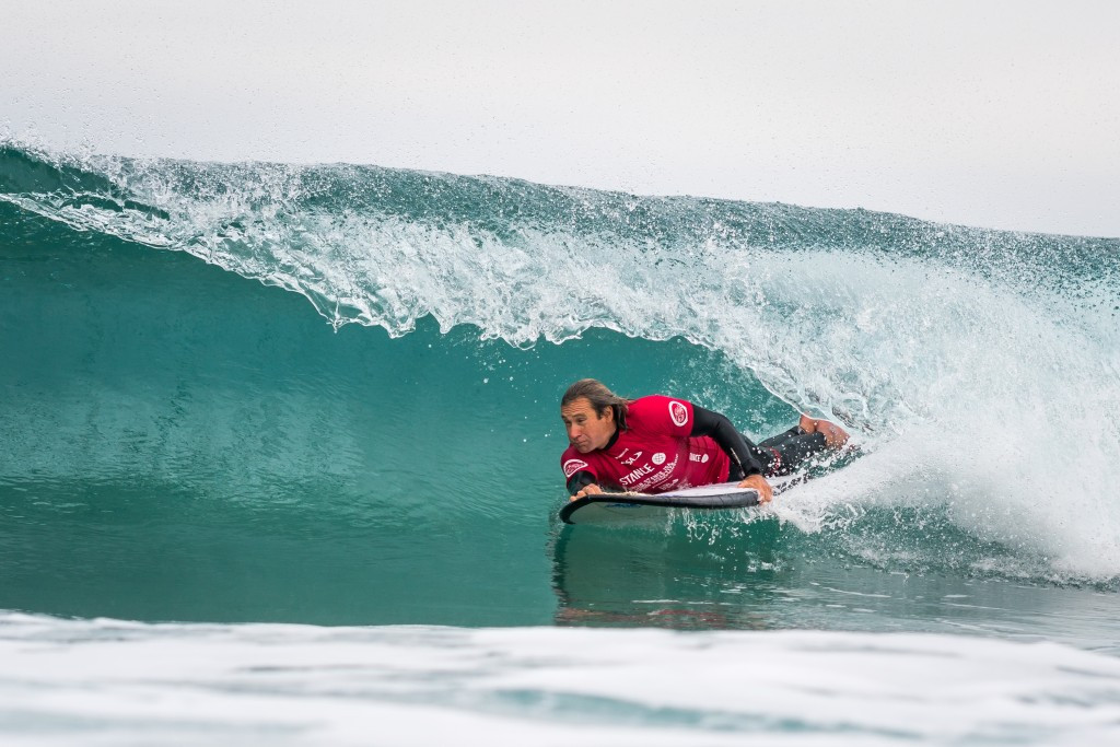 The ISA's most decorated adaptive surfer Bruno Hansen set the highest AS-4 heat total ©ISA