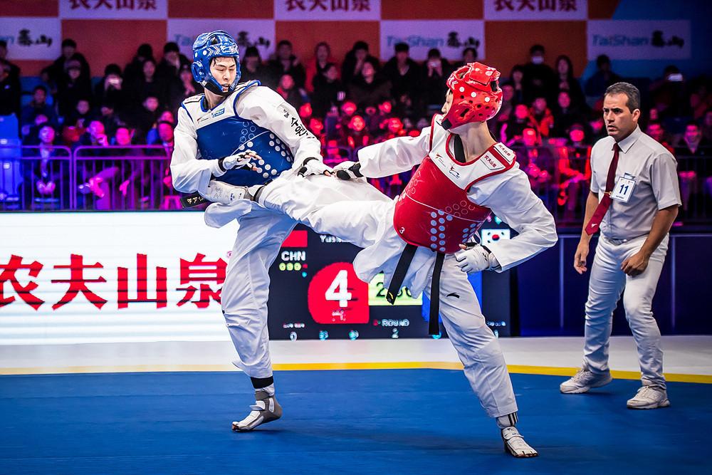Upsets define semi-final action at World Taekwondo Grand Slam Champions series