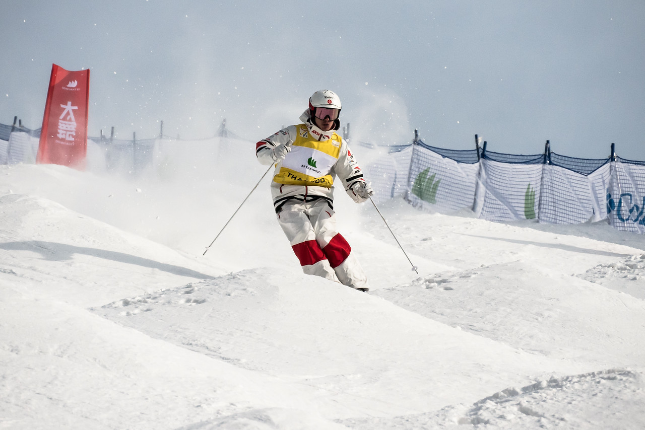 Kingsbury shrugs off food poisoning to win gold again at Moguls World Cup in Thaiwoo