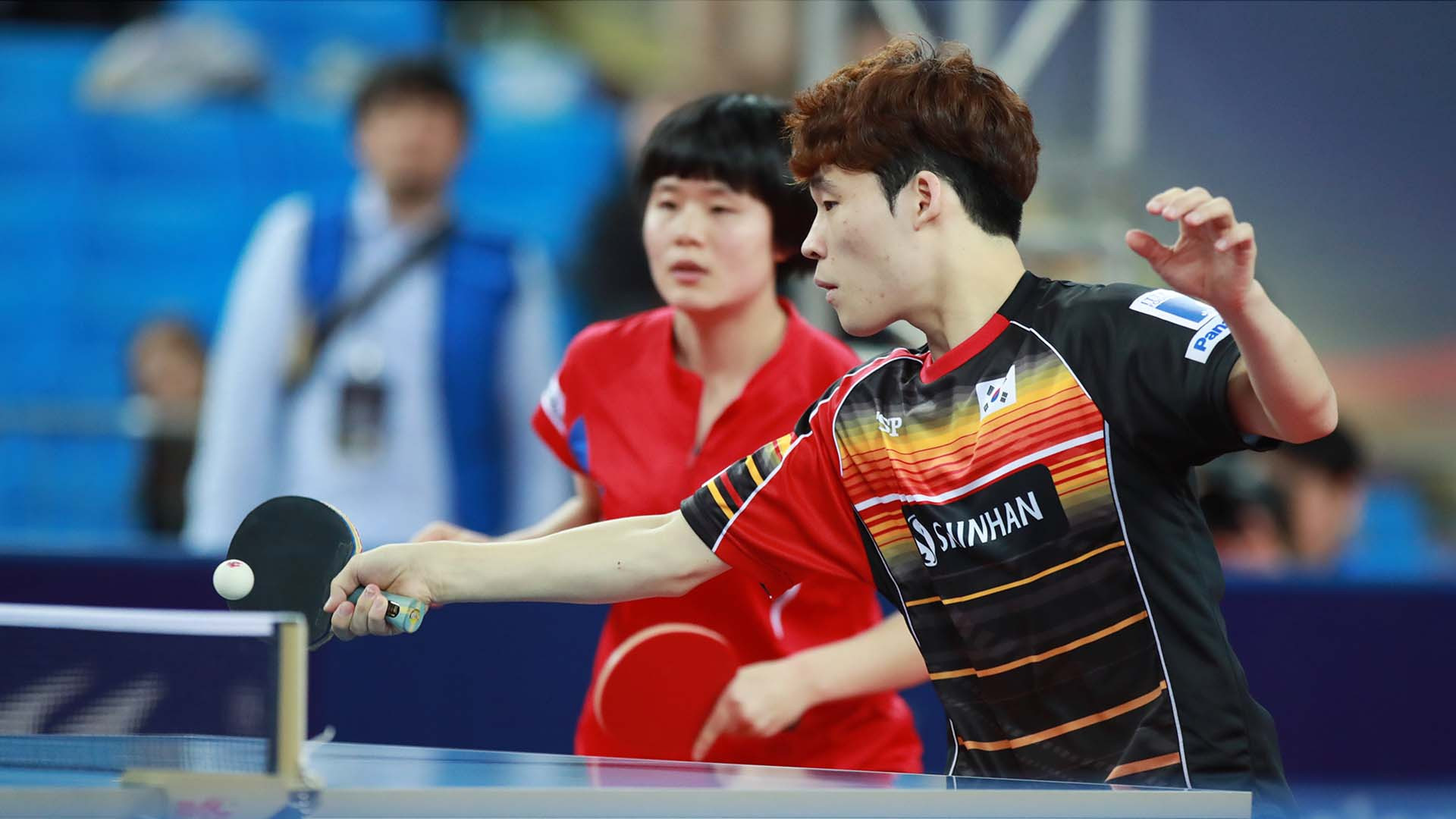 Unified Korean pairing settle for silver in mixed doubles final at ITTF World Tour Grand Finals