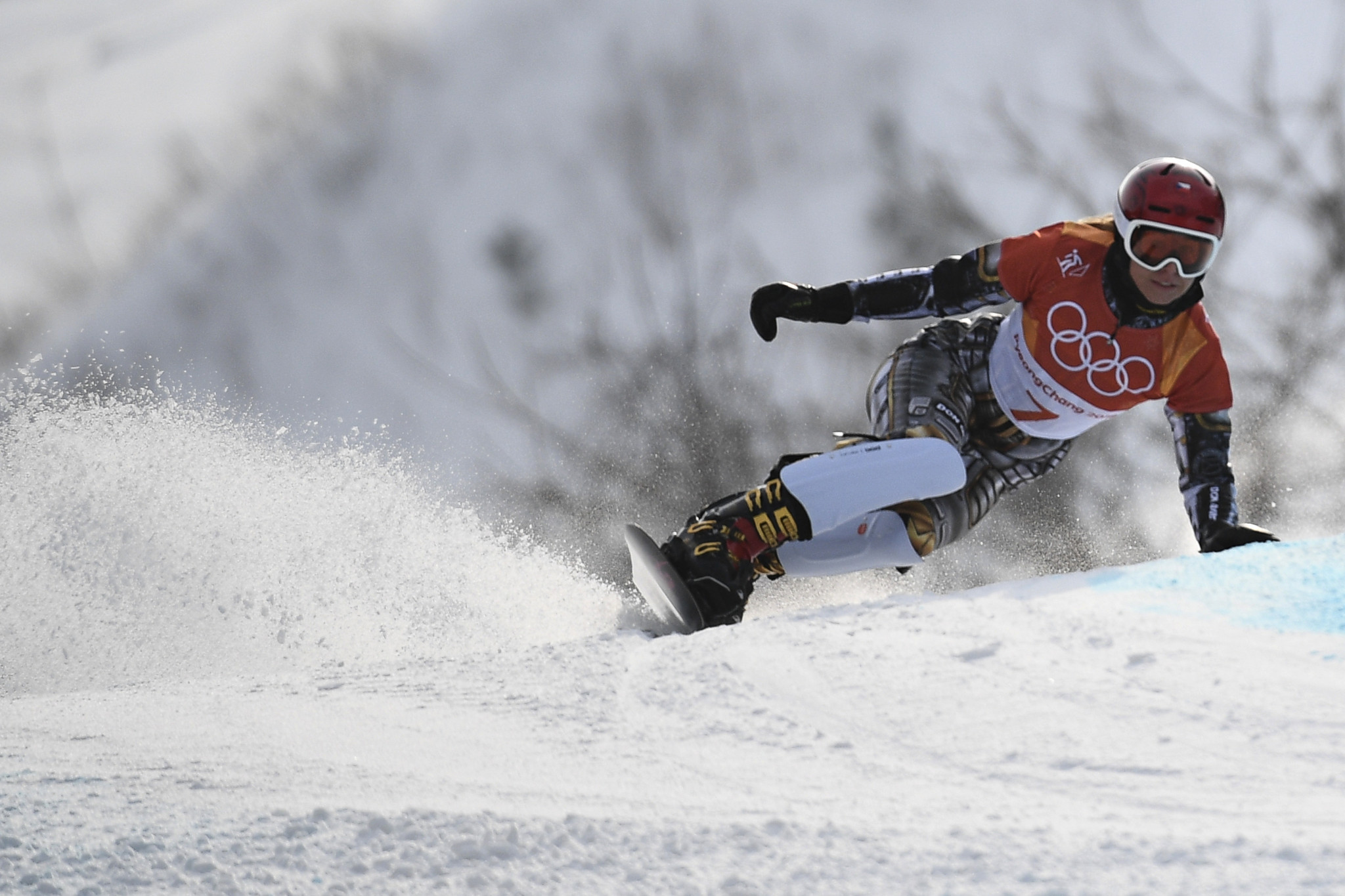 Ester Ledecká returned to the top of a Snowboard World Cup podium ©Getty Images
