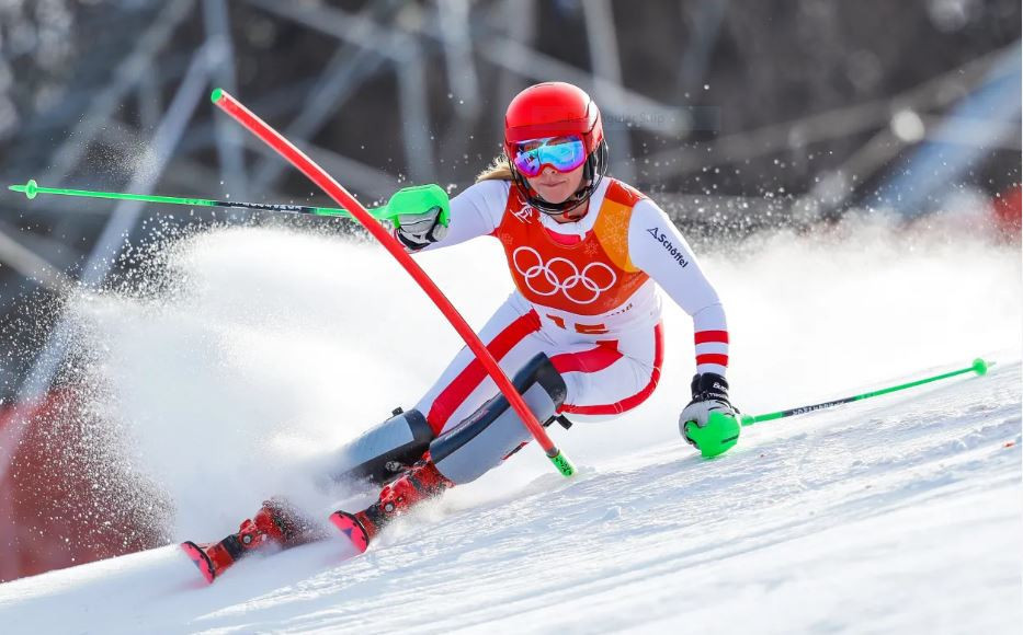 Austria's 21-year-old Olympic slalom bronze medallist Katharina Gallhuber will miss the rest of the season after injuring her right knee in practice yesterday ©FIS