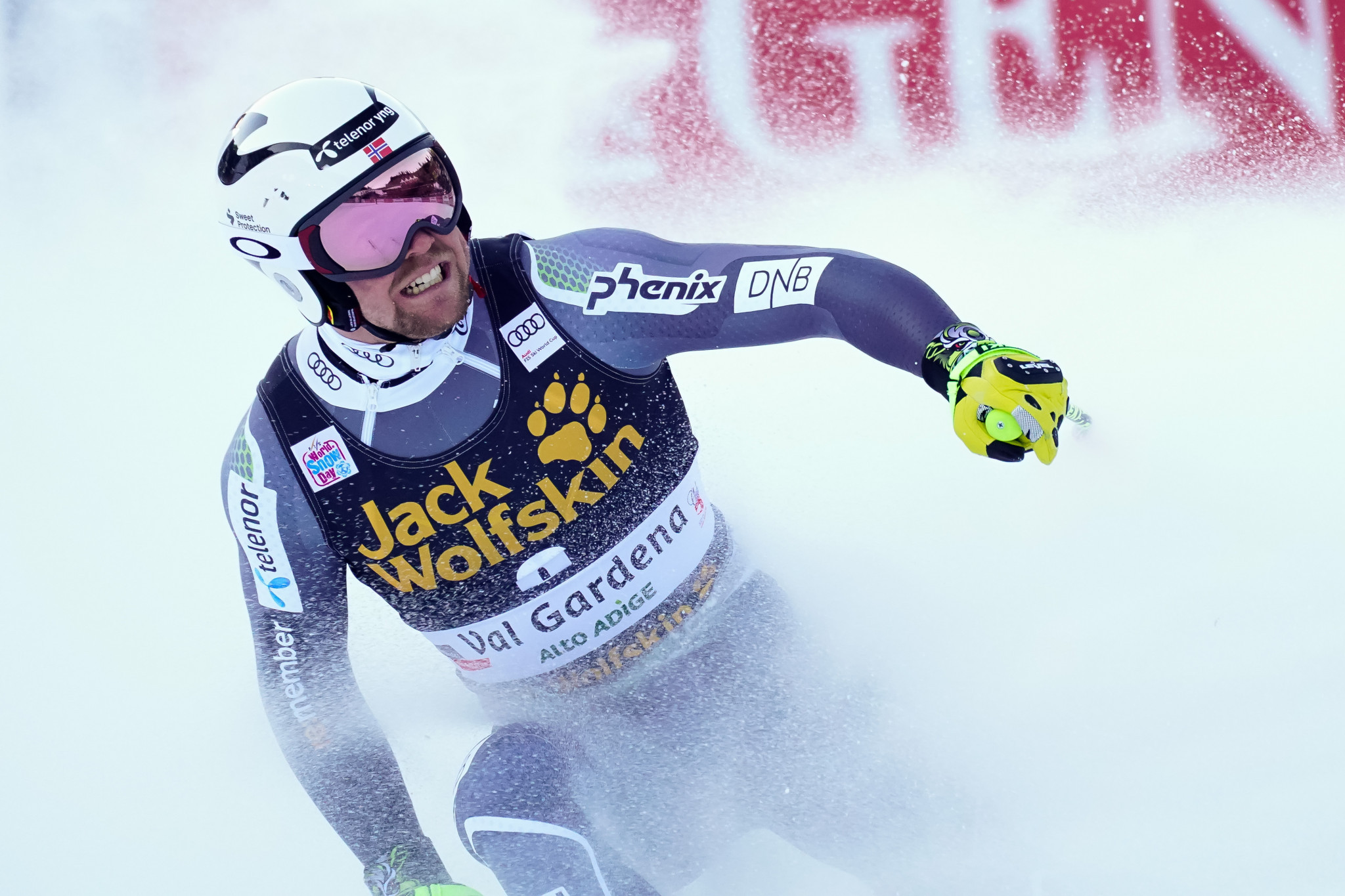 Norway's Aleksander Aamodt Kilde won today's downhill at the FIS Alpine World Cup in Val Gardena ©Getty Images